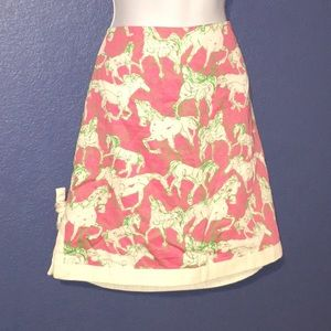 Lilly Pulitzer Skirt with Horses